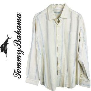 Tommy Bahama Mens Dress Shirt Long Sleeve Shirt